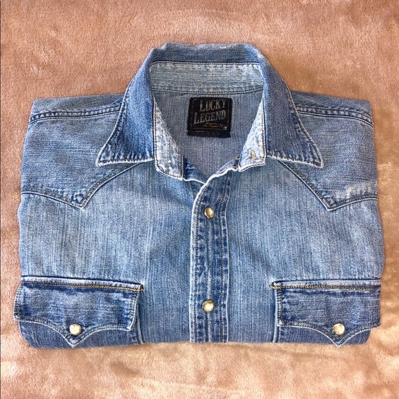 Lucky Brand Other - LUCKY BRAND DISTRESSED WESTERN SHIRT